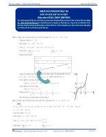 Khảo sát hàm số bậc ba - Tài liệu  tự luyện Toán 12