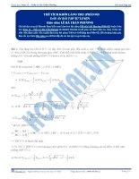 Thể tích khối lăng trụ - Tài liệu  tự luyện Toán 12 - P2