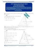 Chứng minh quan hệ vuông góc - Tài liệu  tự luyện Toán 12 - P1