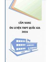 Cẩm Nang Ôn Luyện THPT Quốc gia 2016