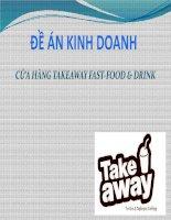CỬA HÀNG TAKEAWAY FAST-FOOD & DRINK