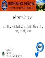 Hoạt động phát hành cổ phiếu lần đầu ra công chúng tại Việt Nam