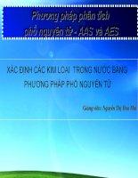 Bài giảng phương pháp phân tích phổ nguyên tử   AAS và AES   nguyễn thị hoa mai