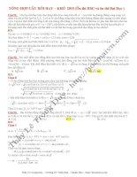 Tuyển chọn 100 câu dao động cơ  hay  khó điểm 10 vật lý (file word  lời giải chi tiết)