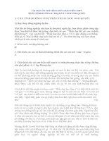 TÀI LIỆU ÔN THI VIÊN CHỨC GIÁO VIÊN THPT PHẦN TÌNH HUỐNG SƯ PHẠM VÀ CÁCH GIẢI QUYẾT