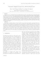 Proceedings VCM 2012 40 nonlinear adaptive control of a 3d overhead crane