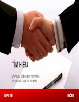 Bài thuyết trình: Tìm hiểu về IPO của Ngân hàng Thương mại Cổ phần Công thương Việt Nam (VietinBank)