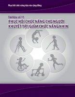 Phục hồi chức năng dựa vào cộng đồng   phục hồi chức năng cho người khuyết tật và giảm khả năng nhìn