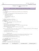 Giáo án vật lí 10 cơ bản 4 cột theo hướng phát triển năng lực học sinh
