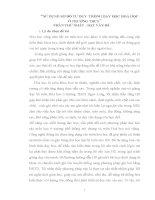 SKKN sử DỤNG sơ đồ tư DUY  TRONG dạy học HOÁ học ở TRƯỜNG THCS