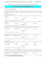 Giải chi tiết đề thi THPT quốc gia môn vật lý năm 2015