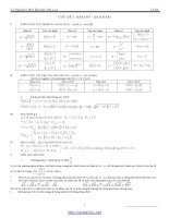 Chuyên đề hàm số   đạo hàm ôn thi THPT quốc gia