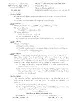Đề thi và đáp án môn: MÁY ĐIỆN (Đề thi tuyển sinh liên thông Đại học đợt 2  năm 2010 của trường Đại học Đông Á)