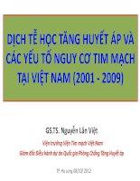 DỊCH TỄ HỌC TĂNG HUYẾT ÁP VÀ CÁC YẾU TỐ NGUY CƠ TIM MẠCH TẠI VIỆT NAM (2001 - 2009)