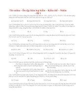 27 thi online   ôn tập kim loại kiềm – kiềm thổ – nhôm   đề 1