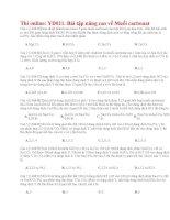 40 thi online YD021  bài tập nâng cao về muối cacbonat