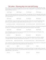 06 thi online   phương pháp bảo toàn khối lượng