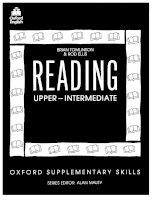 TÀI LIỆU LUYỆN ĐỌC TIẾNG ANH - Oxford supplementay skills reading upper intermediate