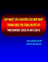 CẬP NHẬT CÁC KHUYẾN CÁO MỚI NHẤT TRONG ĐIỀU TRỊ TĂNG HUYẾT ÁP THEO ESH/ESC (2013) VÀ JNC 8 (2014)