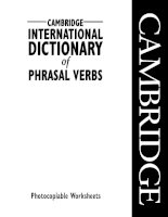 Cambridge international dictionary of phrasal verbs   pvwksheets