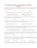Lý thuyết và bài tập nâng cao về peptit – protein