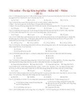 37 thi online   ôn tập kim loại kiềm – kiềm thổ – nhôm   đề 11