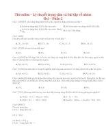 lý thuyết trọng tâm và bài tập về nhóm oxi – BẢN WORD- CÓ ĐÁP ÁN