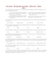 28 thi online   ôn tập kim loại kiềm – kiềm thổ – nhôm   đề 2