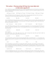 14 thi online   phương pháp kết hợp bảo toàn điện tích và bảo toàn nguyên tố