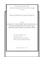 tóm tắt luận văn thạc sĩ kỹ thuật   NGHIÊN cứu CÔNG NGHỆ TRUYỀN THÔNG QUA ĐƯỜNG dây điện lực ỨNG DỤNG CHO hệ THỐNG điều KHIỂN NHÀ THÔNG MINH