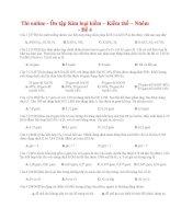 30 thi online   ôn tập kim loại kiềm – kiềm thổ – nhôm   đề 4