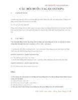GIẢI THÍCH CHI TIẾT VỀ TAG QUESTION - CÂU HỎI ĐUÔI