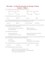Lý thuyết trọng tâm và bài tập về nhóm cacbon – phần 3