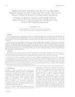 Proceedings VCM 2012 34 Nghiên Cứu Phân Tích Động Lực Học và Ứng Dụng Giải  Thuật Di TruyềnLeo Đồi Trong Việc Tối Ưu Hóa Vận Tốc Di  Chuyển Thẳng Của Robot Cá 3 Khớp Dạng Carangiform