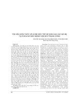 TÌM HIỂU KIẾN THỨC về CHĂM sóc TRẺ đẻ NON của các bà mẹ tại KHOA sơ SINH BỆNH VIỆN NHI TRUNG ƯƠNG