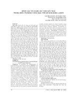 ĐÁNH GIÁ tác DỤNG AN THẦN gây NGỦ TRONG điều TRỊ BỆNH VÕNG mạc TRẺ đẻ NON BẰNG LASER