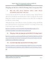 Tổng hợp các bài viết về IELTS writing task 2 trong năm 2014
