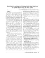 ĐÁNH GIÁ kết QUẢ sớm của PHƯƠNG PHÁP PHẪU THUẬT nội SOI TRONG điều TRỊ UNG THƯ TRỰC TRÀNG