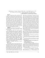 MẦM BỆNH ký SINH TRÙNG TRÊN RAU tưới BẰNG nước THẢI tại THÀNH PHỐ và NÔNG THÔN TỈNH đắk lắk năm 2012