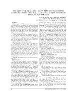 XÁC ĐỊNH tỷ lệ hộ GIA ĐÌNH NGƯỜI BỆNH đái THÁO ĐƯỜNG GÁNH CHỊU CHI PHÍ THẢM HOẠ DO điều TRỊ tại BỆNH VIỆN THANH NHÀN, hà nội, năm 2013