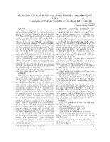 ĐÁNH GIÁ kết QUẢ PHẪU THUẬT nội SOI điều TRỊ VIÊM RUỘT THỪA SAU MANH TRÀNG tại BỆNH VIỆN đại học y hà nội
