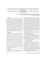 THỰC TRẠNG hội CHỨNG CHUYỂN hóa ở cán bộ CÔNG CHỨC, VIÊN CHỨC THỊ xã PHÚ THỌ   TỈNH PHÚ THỌ năm 2012 và một số yếu tố LIÊN QUAN