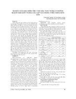 NGHIÊN cứu đặc điểm HÌNH THÁI đầu TINH TRÙNG ở NHỮNG NGƯỜI NAM GIỚI TRONG các cặp vợ CHỒNG THIỂU NĂNG SINH sản