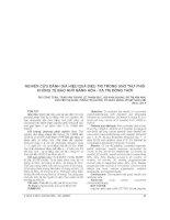 NGHIÊN cứu ĐÁNH GIÁ HIỆU QUẢ điều TRỊ TRONG UNG THƯ PHỔI KHÔNG tế bào NHỎ BẰNG hóa   xạ TRỊ ĐỒNG THỜI