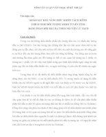tóm tắt luận văn thạc sĩ kỹ thuật KHẢO sát KHẢ NĂNG điều KHIỂN TÁCH KÊNH THÍCH NGHI đối TƯỢNG MIMO TUYẾN TÍNH BẰNG PHẢN hồi đầu RA THEO NGUYÊN lý TÁCH