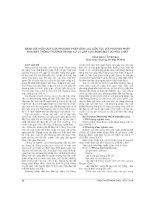 ĐÁNH GIÁ HIỆU QUẢ của PHƯƠNG PHÁP dẫn lưu LIÊN tục với PHƯƠNG PHÁP rửa mắt THÔNG THƯỜNG TRONG xử lý cấp cứu BỎNG mắt DO hóa CHẤT