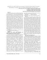 NGHIÊN cứu điều CHẾ PHỨC KHÁNG THỂ đơn DÒNG NIMOTUZUMAB gắn ĐỒNG vị PHÓNG xạ i 131 DÙNG TRONG điều TRỊ UNG THƯ