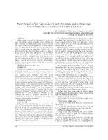 THỰC TRẠNG CÔNG tác QUẢN lý, điều TRỊ BỆNH NHÂN ĐỘNG KINH tại 4 xã PHƯỜNG của TỈNH NINH BÌNH, năm 2012