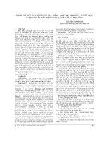 ĐÁNH GIÁ một số CHỈ TIÊU về đặc điểm lâm SÀNG, SINH hóa, HUYẾT học ở BỆNH NHÂN mắc BỆNH VIÊM GAN b cấp và mạn TÍNH