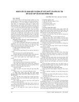 NGHIÊN cứu tác DỤNG điều TRỊ BỆNH sốt XUẤT HUYẾT của VIÊN cúc tần với sự kết hợp của bù DỊCH ĐƯỜNG UỐNG
